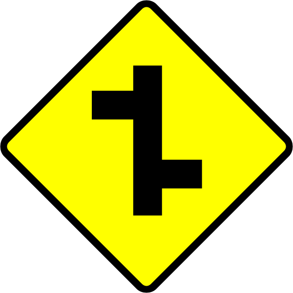 Junction road sign vector image
