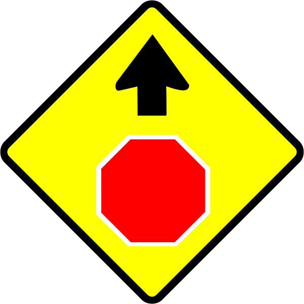 Stop caution sign vector image