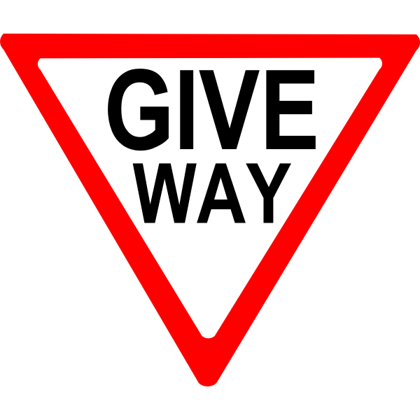 Give way sign roadsign vector image
