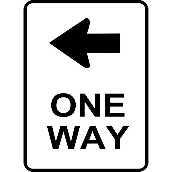 One way traffic roadsign vector image