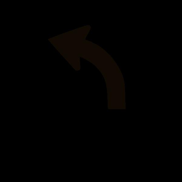 Veer left traffic sign vector image