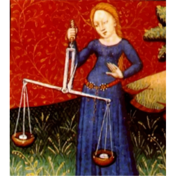 Lady holding scales