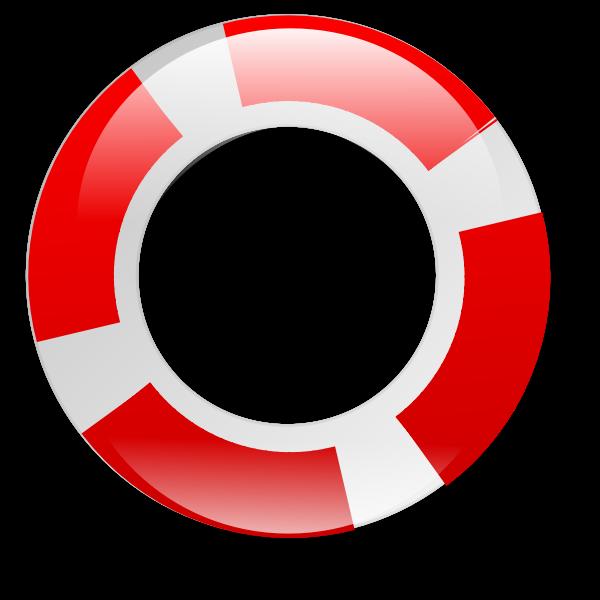 Life saving ring vector image