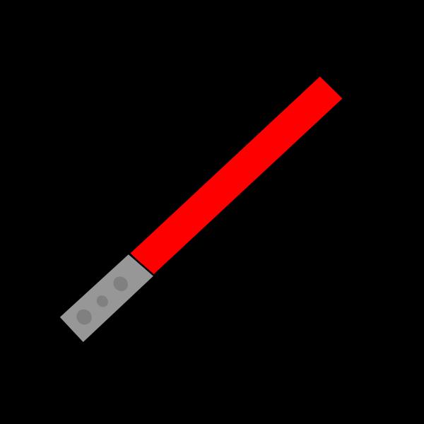 Red light saber vector image