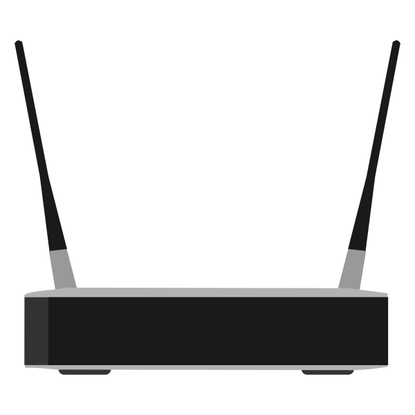 Linksys WRT54GR wireless-G broadband Router with RangeBooster vector image