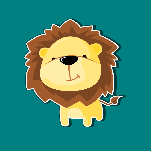 Mascot lion   Free SVG