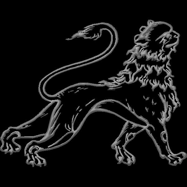 Decorative lion image