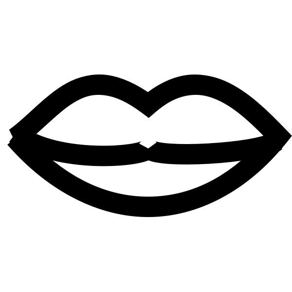 Vector clip art of simple lips