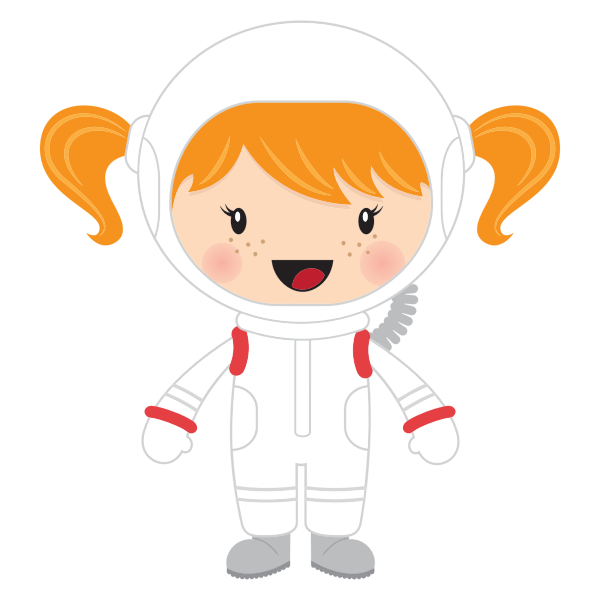 Little girl astronaut