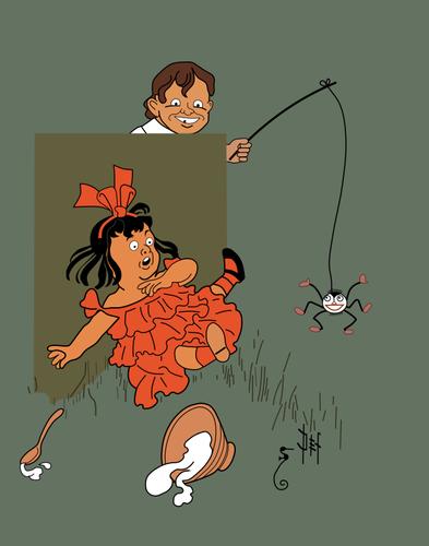 Little Miss Muffet - Denslow