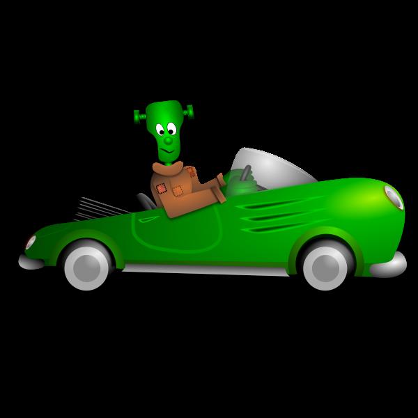 Little Frankenstein driver vector image