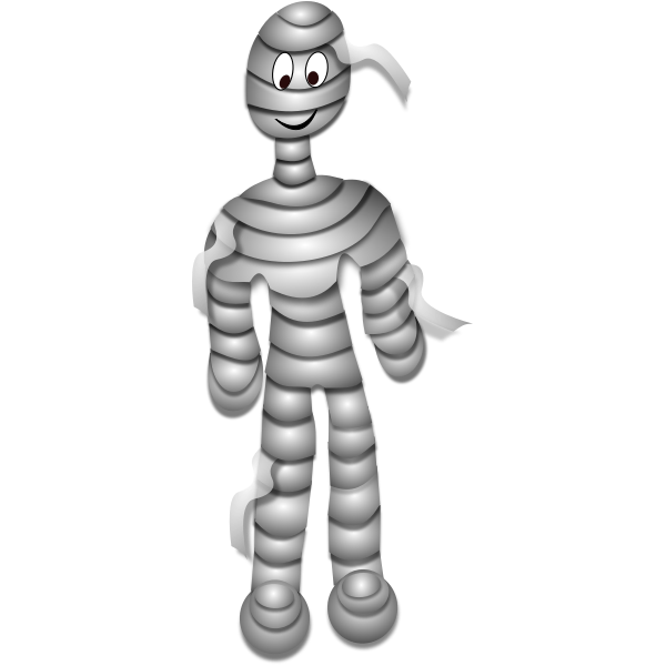 Grey mummy vector illustration