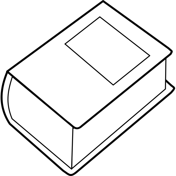 Vector illustration of thick dictionary