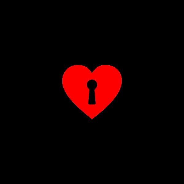 Locked heart and keys