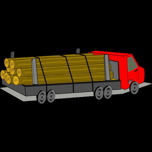 Logging truck vector image