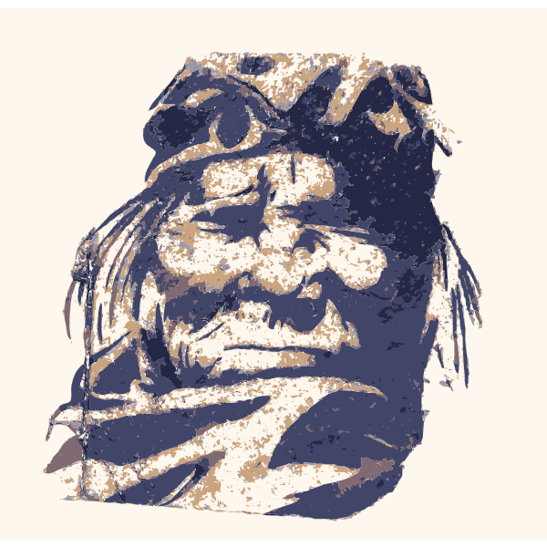 Native American portrait painting vector image