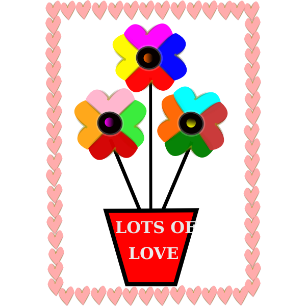 Vector image of flower pot