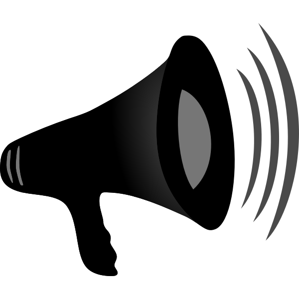 Vector illustration of megaphone in action