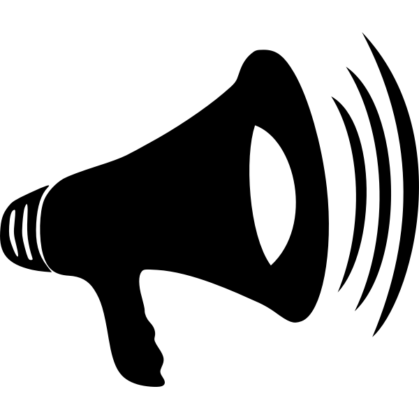 Loud megaphone vector illustration