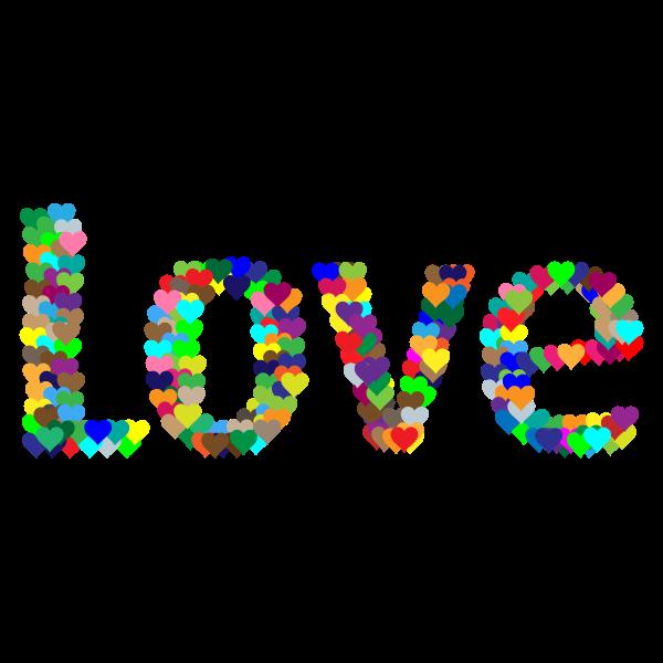 Love Heart Typography Redux 2