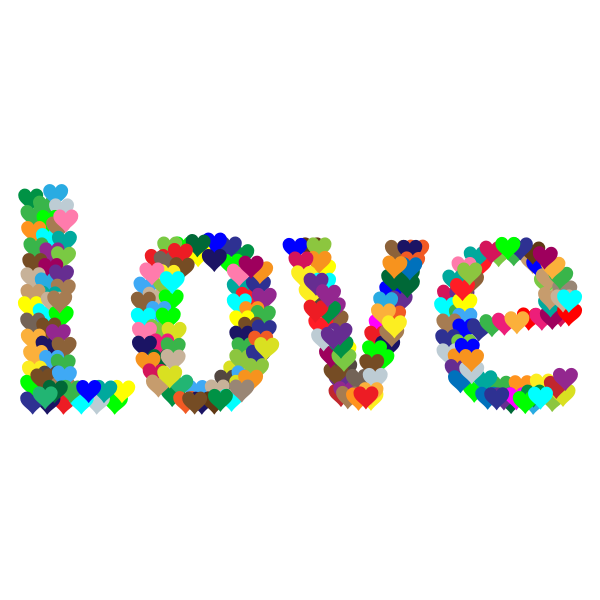 Love Heart Typography Redux 2