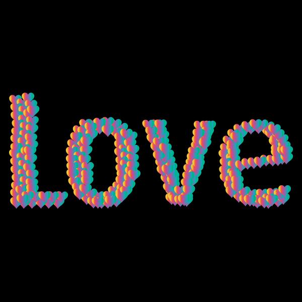 Love Heart Typography Redux 6