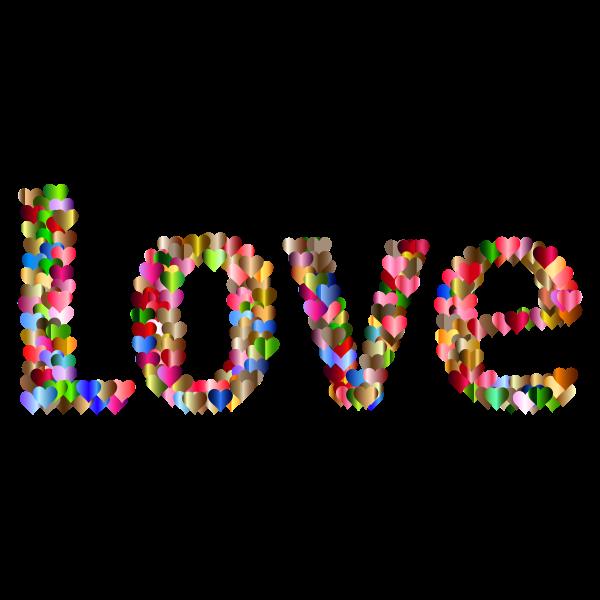 Love Heart Typography Redux