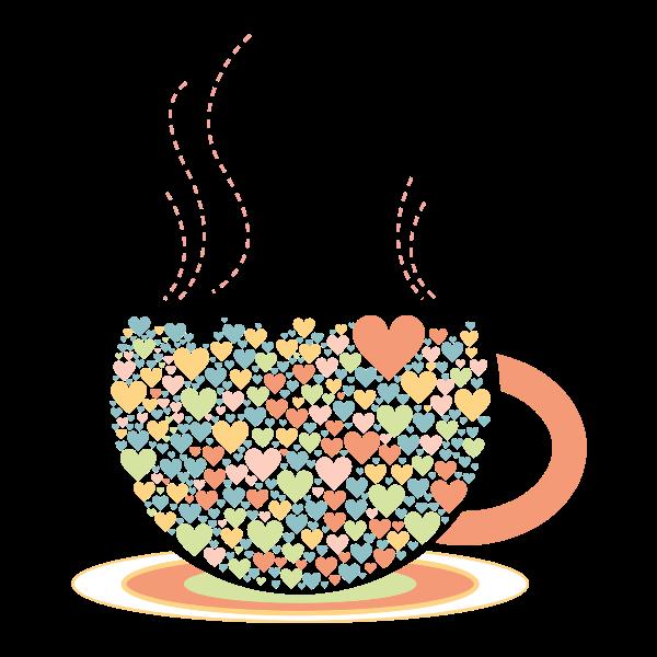 Love Hearts Coffee By Lin Chu