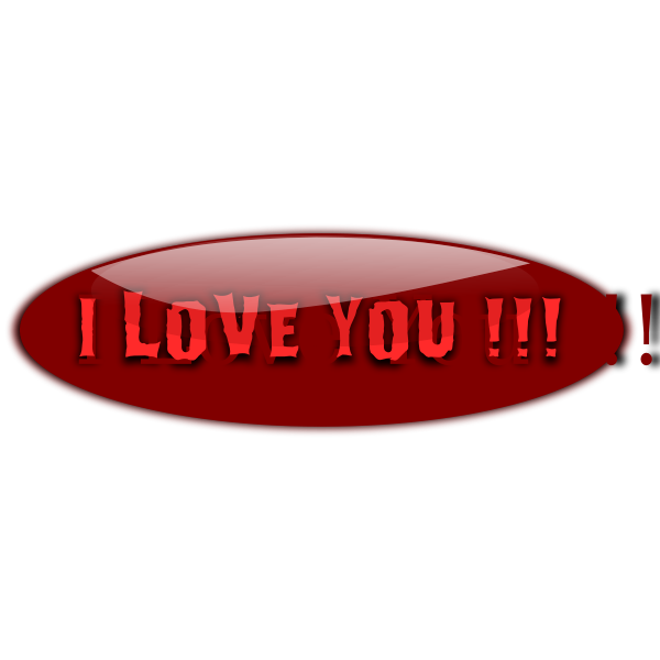 I love you glossy vector graphics