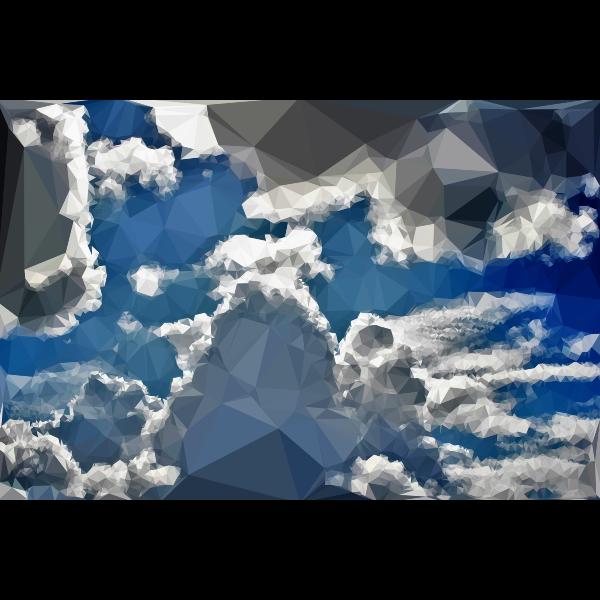 Low Poly Blue Sky 5