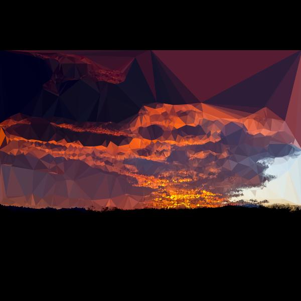 Low Poly Burnt Caramel Sunset