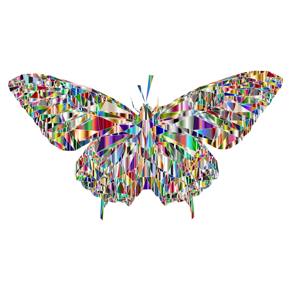 Low Poly Butterfly Prismatic 10