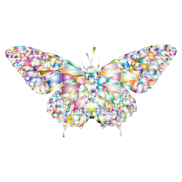 Low Poly Butterfly Prismatic 2