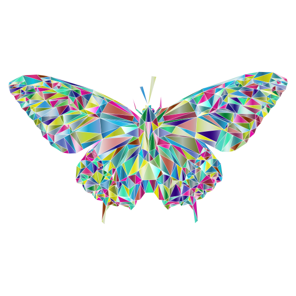Low Poly Butterfly Prismatic 3