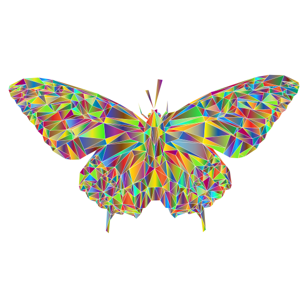 Low Poly Butterfly Prismatic 4