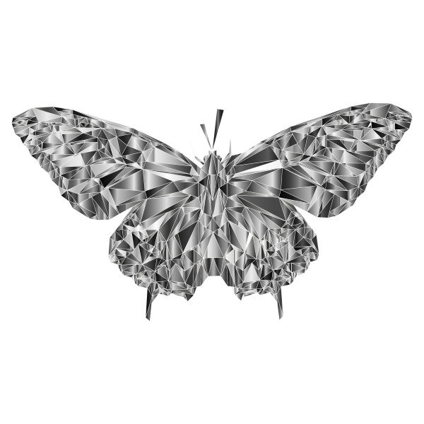 Low Poly Butterfly Prismatic 6