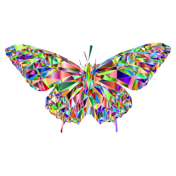 Low Poly Butterfly Prismatic 7