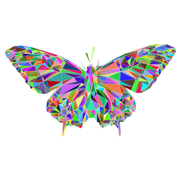 Low Poly Butterfly Prismatic