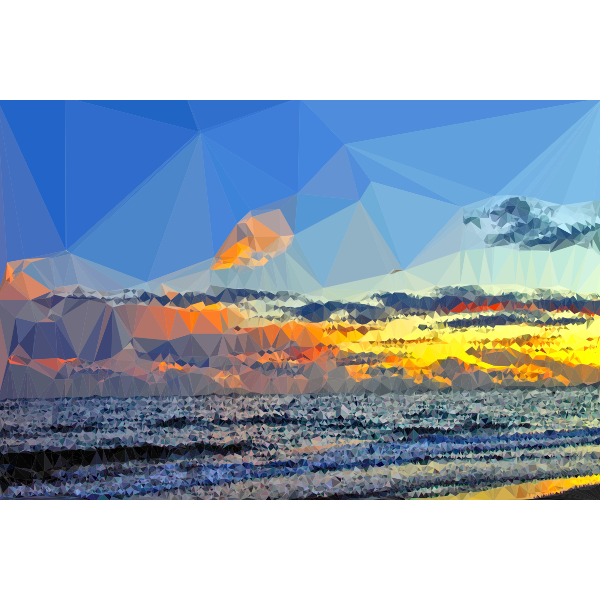Low Poly Color Of The Summer Sky