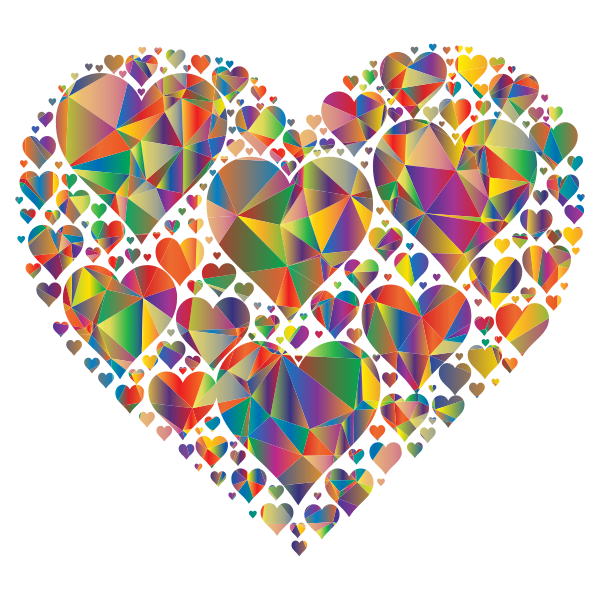 Low Poly Hearts In Heart