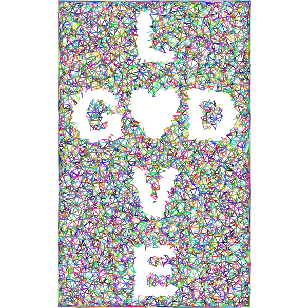 Low Poly Love GOD 4 No Background