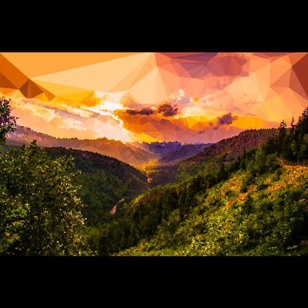 Low Poly Montana Sunset