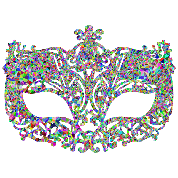 Low Poly Prismatic Carnival Mask
