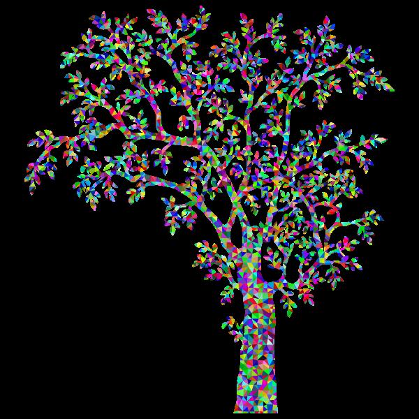 Low Poly Prismatic Tree