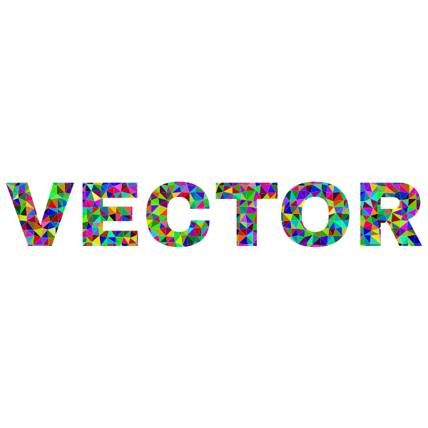 Low Poly Prismatic Vector Typography