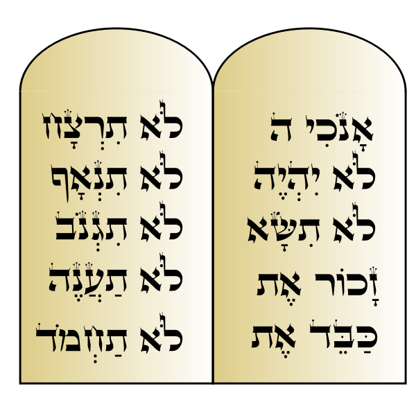 Ten Commandments vector image