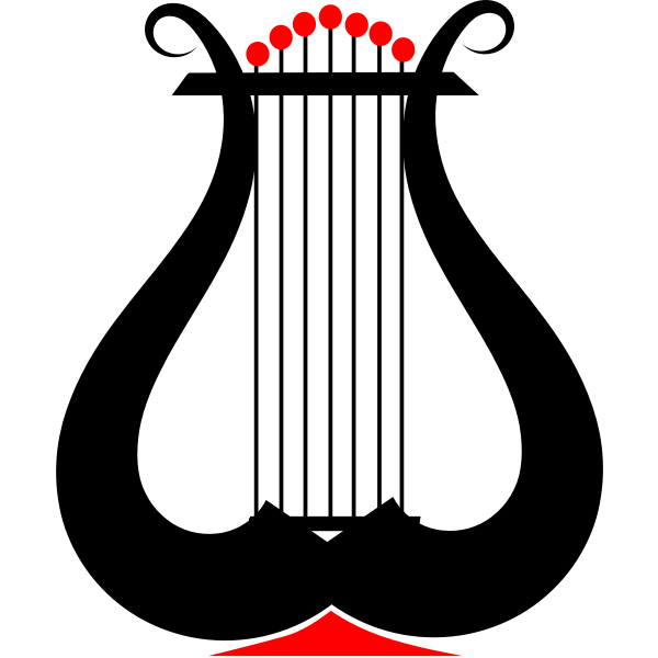 Vector clip art of lyre instrument