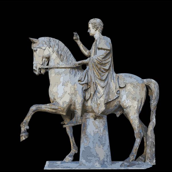 M Nonius Balbus Nuceria equestrian Statue MANN 2016122132