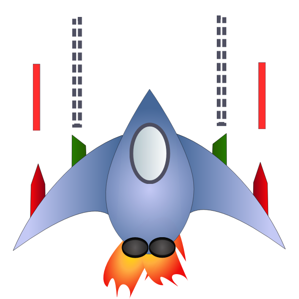 Cartoon spaceship vector image