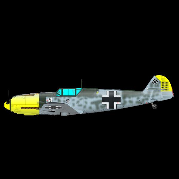 ME-109 aeroplane vector image